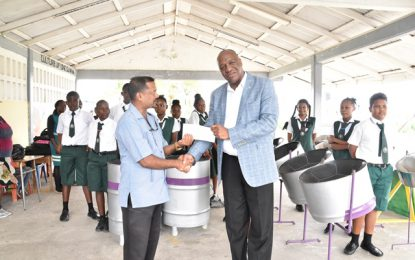Minister Harmon donates $50,000 to alma mater's Steel Pan Orchestra