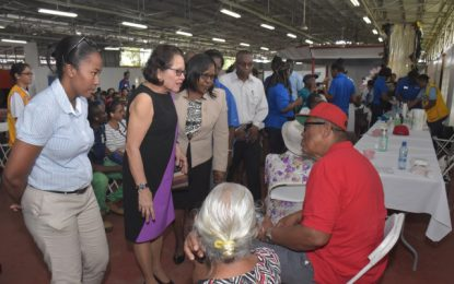 Over 500 persons receive free hearing screening  -First Lady joins Phase I of Starkey Hearing Foundation's 2018 mission to Guyana