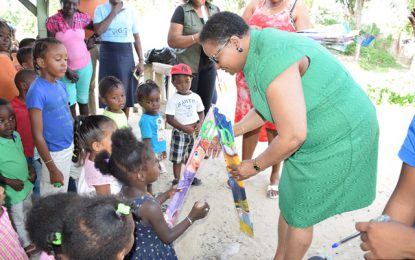 Minister Lawrence continues annual kite distribution exercise