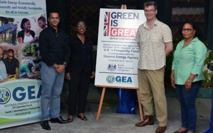 GEA Spearheads Installation of SOLAR Powered Energy Efficient Street Lights at the National Park in Collaboration with the British High Commission