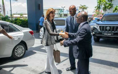 Guyanese and Colombian Foreign Ministers hold bilateral talks