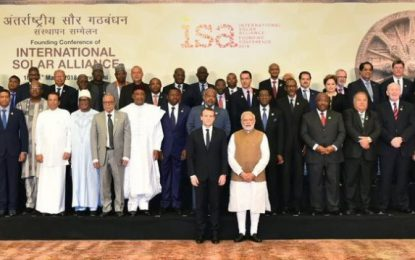 Guyana is ideally placed to become a 'solar state'  -President Granger tells world leaders at Summit in India