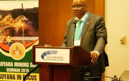 Guyana's mineral resources still under-explored- Min Jordan tells PDAC 2018 Convention