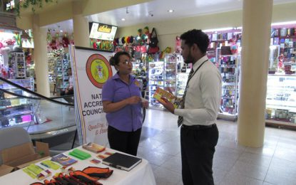 National Accreditation Council takes Awareness Programme to the City Mall
