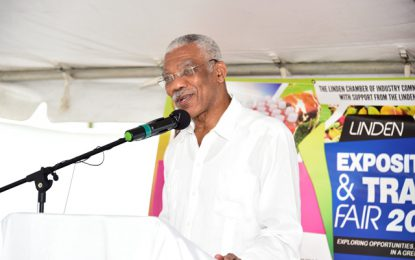 """""""Build prosperous town through commerce"""" – President at opening of Linden Trade fair 2018"""