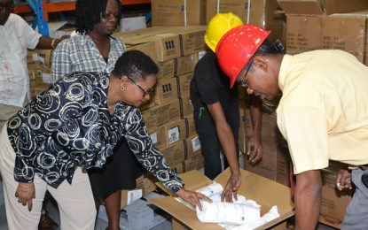 Min. Lawrence verifies receipt and delivery of regional medical supplies