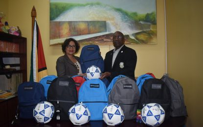 Pele F.C. Alumni makes timely donation to hinterland football