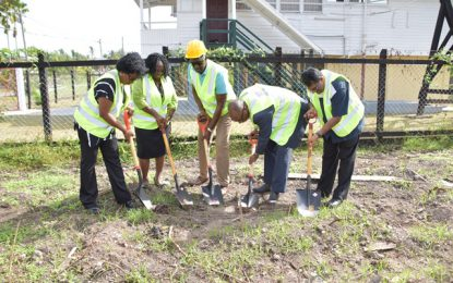 Sod turned for new Lands and Surveys office in New Amsterdam