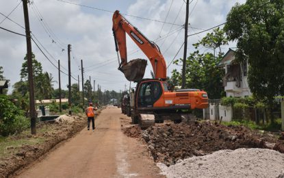 Major East Bank Berbice road project nears completion – will have lights and guard rails