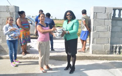 Min. Cummings visits Essequibo storm-hit victims