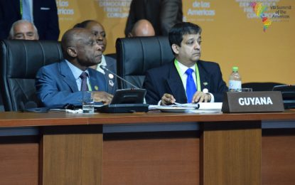 Guyana reaffirms commitment to combat corruption at Summit of the Americas
