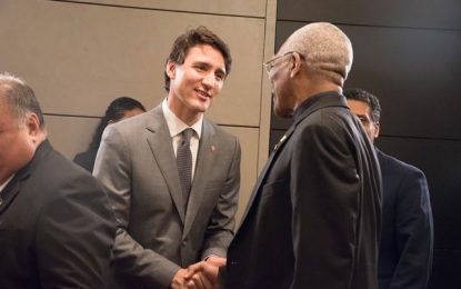President Granger participated in high-level meeting with Canadian Prime Minister