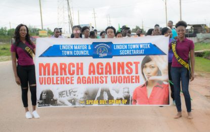 Speak Up, Speak Out! Lindeners marched against violence against women