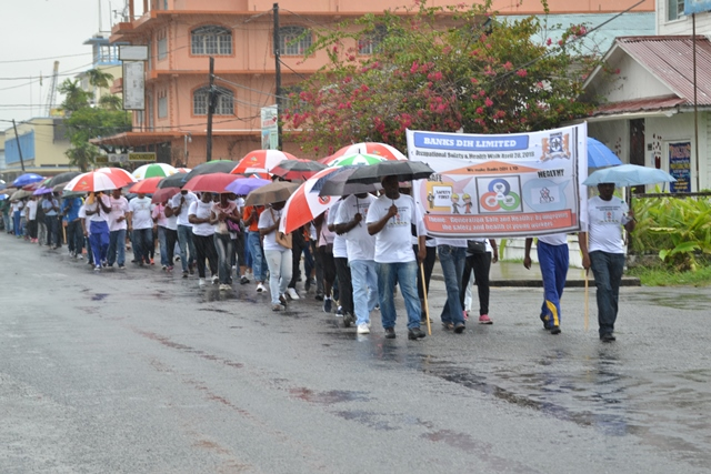 """""""Safety begins at home"""" – Min. Scott  -Walk in support of Occupational Safety and Health held"""