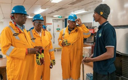 "Guyanese on Bob Douglas Drillship see ""exciting times""  – drillship providing opportunities for personal growth"