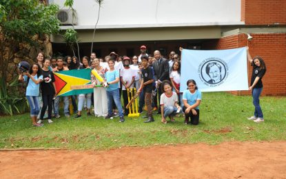 Guyana's Ambassador to Brazil visits the Dr. Zilda Arns Fundamental Education Centre in Itapoã, Brazil.
