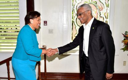 President signals support for proposed Commonwealth cricket tournament  -During courtesy call with Baroness Scotland