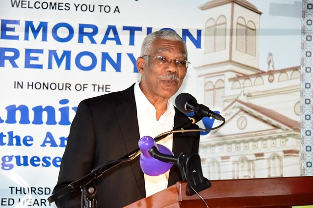 Portuguese Arrival Day celebrates the plurality of the Guyanese society  -President Granger