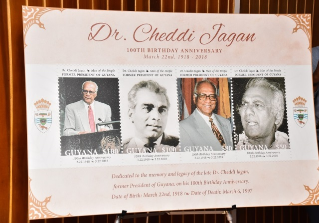 Dr. Jagan commemorative stamps unveiled