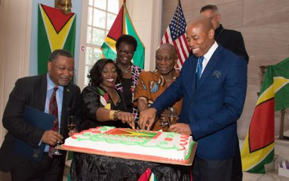 Min. Greenidge celebrates independence with Guyanese diaspora in NY