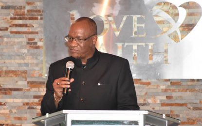 The church must engage Government on issues of good governance, national development  -Minister Harmon said at Love and Faith World Outreach Ministry's 30th Anniversary Service