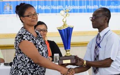 Brickdam Secondary shines at adolescent health debates competition