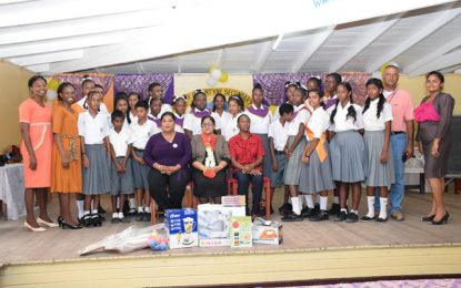 Two Berbice schools benefit from donations by Mrs. Nagamootoo