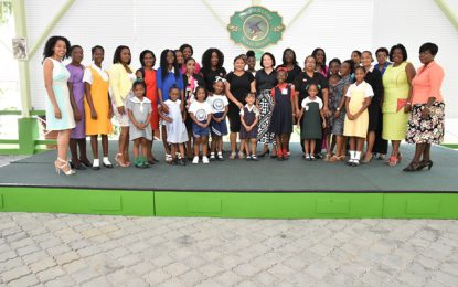 Mother and Daughter Pageant organisers, contestants pay courtesy call on First Lady