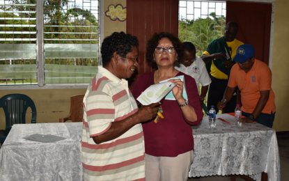 Dozens of birth certificates distributed in Region One – residents of Sebai, Eclipse Falls and Citrus Grove now documented