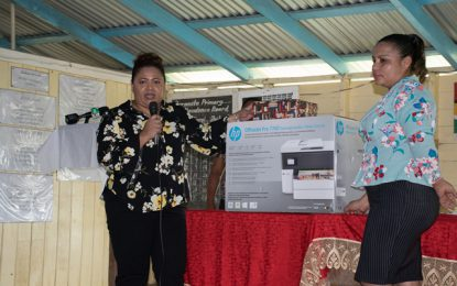 """By Faith"" Foundation donates printer/ photocopier, other items to Baramita Students"