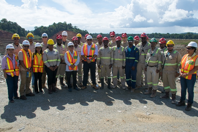 Govt satisfied with local content, safety measures at Aurora Gold Mines – Ministers Trotman and Sharma tour mine operations