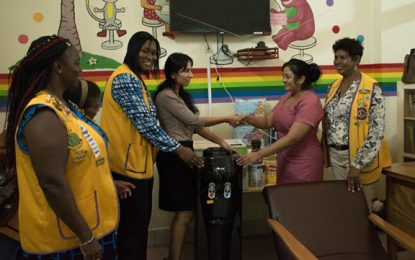 GPHC's Pediatric ward receives donation from Demerara Lioness Lions Club