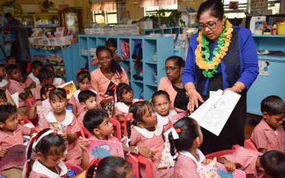 Over 200 students receive donations from Mrs. Nagamootoo
