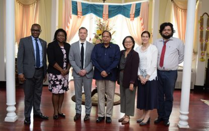 UNDP Team pays courtesy call to Prime Minister Nagamootoo