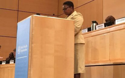 Min. Lawrence calls on WHO member states to heed effects of climate change