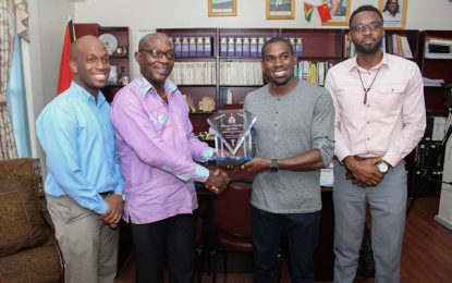 Troy Doris recognised for 'putting Guyana on the map'