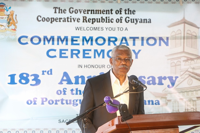 Portuguese contributed to transformation of Guyana's society- President Granger