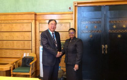 Minister Lawrence meets Chinese Health Secretary Ma Xiaowei  -discuss scholarships and exchange of medical professional skills