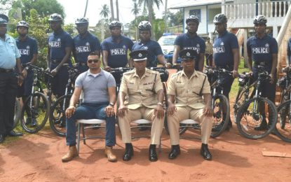 E' Division equips bicycle patrols to better tackle crime