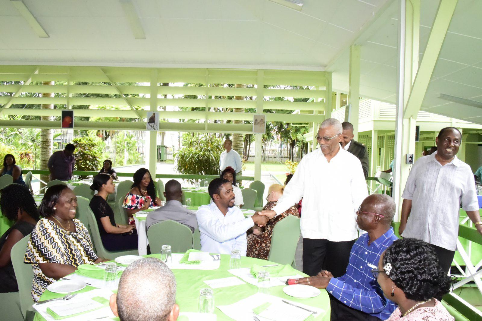 President David Granger attended the Guyana Public Service Union's 95th Anniversary Church Service