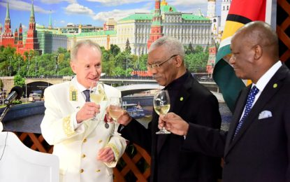 Guyana looks to strengthen ties with Russia in areas of common interests  -President says at Russia Day Reception