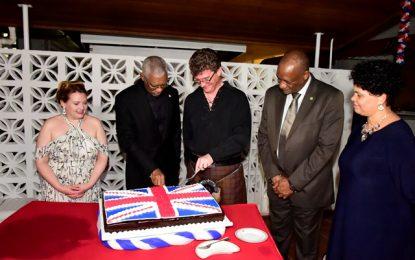 UK remains a strategic partner to Guyana  -President Granger says at receptionin honour of Queen's 92ndbirthday