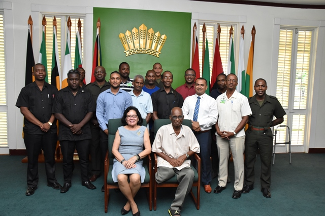 First Lady fetes male staff members in honour of Father`s Day