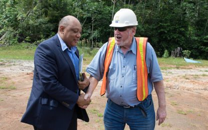 Minister Trotman visits Troy Resources mine site