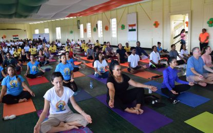 Guyanese observe fourth year of International Day of Yoga