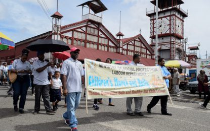 MOSP leads walk and rally against child labour
