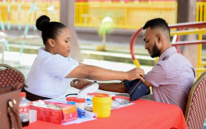 Ptolemy Reid Rehab Centre in blood drive