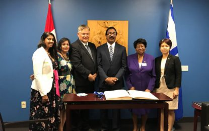 Honourable Basil Williams S.C., M.P, Attorney General and Minister of Legal Affairs visits Toronto City Hall