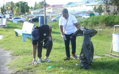 Beach clean-up marks World Oceans Day