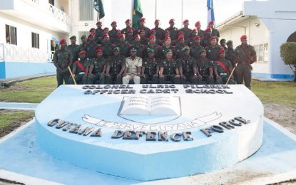 28 Cadet Officers promoted to the rank of Ensigns